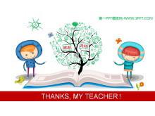 THANKSMY TEACHER!创意感恩教师节PPT模板