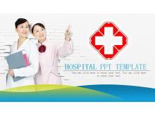 绿色微立体医院PPT模板下载